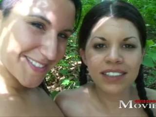 Swiss Pornstar Amanda Jane and Chiara hot lesbian game