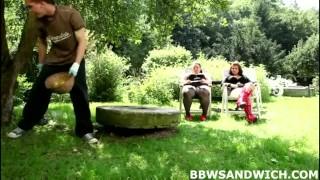 Marta and Jitka fuck their personal slave gardener  domination hardcore threesome bbw femdom chubby fat
