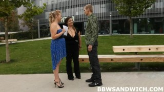 Giant beauties are only satisfied with BBW femdom  domination hardcore threesome bbw femdom chubby fat