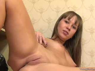 Carrie Delicately Caresses And Touches On Her Pussy
