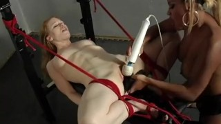 The Domination Of Madison Young - Scene 3 redhead dildo femdom pornhub-com rope face-sitting canadian asian big-tits vibrator stockings skinny tied-up fuck-machine high-heels busty pussy-licking