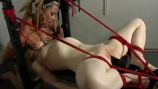 The Domination Of Madison Young - Scene 3  big tits high heels face sitting redhead dildo femdom canadian asian skinny busty vibrator rope stockings pornhub.com pussy licking fuck machine tied up