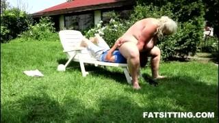 shoking facesitting performed by fat blonde  domination handjob bbw facesitting femdom chubby fat
