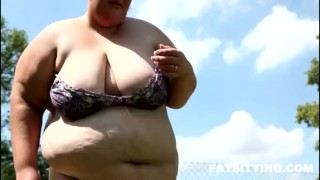 The biggest supersized BBW model facesitting domination femdom handjob bbw chubby fat facesitting