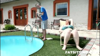 Amazing BBW mistress Diana facesitting domination femdom handjob bbw chubby fat facesitting