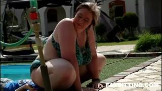 Amazing BBW mistress Diana facesitting  domination femdom handjob bbw chubby fat facesitting