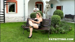 Huge-assed BBW Kristy in smothering session  domination handjob bbw facesitting femdom chubby fat