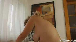 Young plumper Jenny facesits her boyfriend  domination handjob bbw facesitting femdom chubby fat