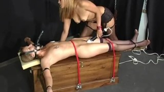 Interracial Bound - Scene 3  nipple clamps spanking ridding girlongirl leash femdom asian vibrator dildo muzzle collar rope stockings pornhub.com