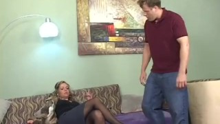 Cougars Strike 1 - Scene 4 panties milf pornhub-com garter nylon heels mom blowjob pornstar glasses kissing brunette stockings natural-tits pussy-licking