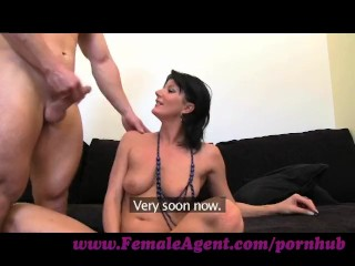 FemaleAgent. Big guns casting