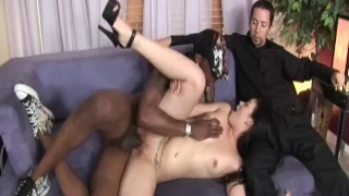 Cuckold 6 - Scene 2  bbc raven riding reverse cowgirl cuckold wife blowjob small tits big dick brunette heels spooning shaved facial pornhub.com big butt natural tits