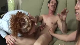 Cuckold MILFs 5 - Scene 3  bj riding babe reverse cowgirl cuckold redhead ffm small tits skinny brunette doggy petite shaved pornhub.com cum shot sideways fake tits