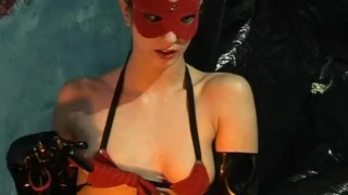 Wet Latex Dreams 11 - scene 1 pussy eating tied chain femdom pornhub.com heels blowjob latex deepthroat cage boots skinny trimmed butt booty mask
