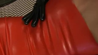 Wet Latex Dreams 16 - scene 3  close up raven booty femdom blowjob cumshot skinny mask latex shaved facefuck pornhub.com small boobs bubble butt
