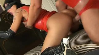 Wet Latex Dreams 16 - scene 3 close up raven femdom pornhub.com bubble butt blowjob latex shaved cumshot facefuck small boobs skinny booty mask