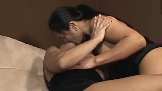 She's My Man 3 - scene 3 lesbians raven pussy-eating pornhub.com heels asian oriental mom cougar shaved big-tits big-boobs fake-tits kissing orgasm girlongirl