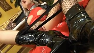 Wet Latex Dreams 19 - scene 4  blindfold boots booty femdom fishnet blonde blowjob skinny young butt petite mask heels latex deepthroat pornhub.com