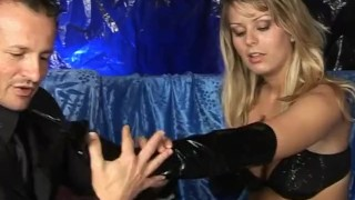 Wet Latex Dreams 11 - scene 2  lingerie spanking boots femdom nylon blowjob cumshot hardcore footjob mask feet heels latex shaved deepthroat pornhub.com