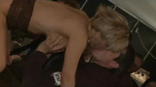 Scandal on stage big tits stripper gets fisted hard kinky