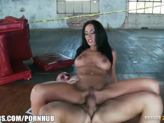 Beautiful brunette cop Kirsten Price gets fucked by her partner