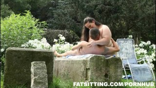 Jitka's huge ass demands slave worship outdoor femdom bbw fat big tits big ass facesitting