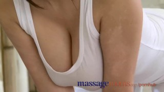 Massage Rooms Foot rub and oil sex with busty masseuse