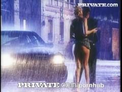 Private: Stunning busty Sandra Iron fucked under the rain