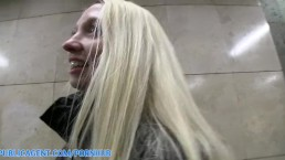 PublicAgent HD Pale Skinny Mina stretches her pussy to take my big cock
