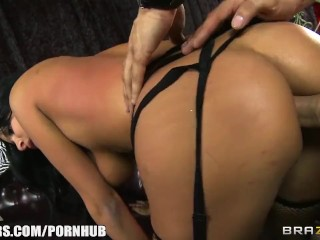 SEXY Latina burlesque dancer Anissa Kate squirts on stage