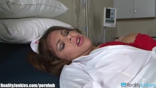 Nurse with Big Tits Caught Masturbating