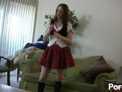 Schoolgirl Toying Around