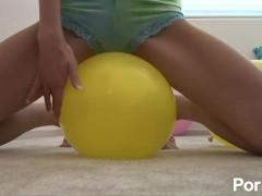 Ballon Riding and Popping