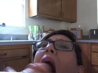 JustAmber dildo blowjob with dirtytalk