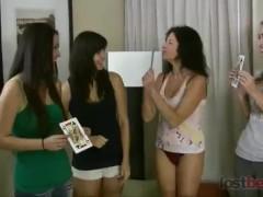 Strip High Card with Asia, Iris, Tatiana, and Berenika (HD)