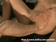 Fist fucking the wifes monster pussy