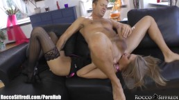 PervCity Brooklyn and Chanel Gagging on a Big Cock