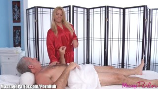MassageParlor Lexi Kartel Takes Care of an Older Man