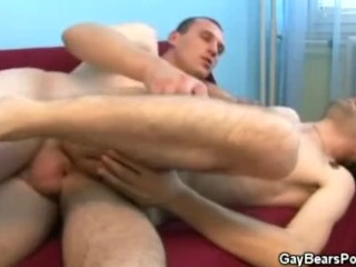 Hairy Gays Fucking On The Couch