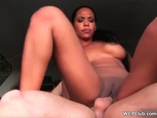 WCPClub Black slut fucking a white guy