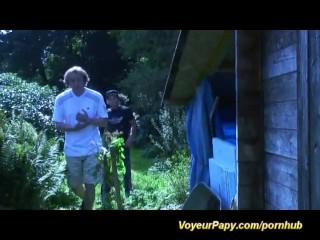 Voyeur papy loves watching sex
