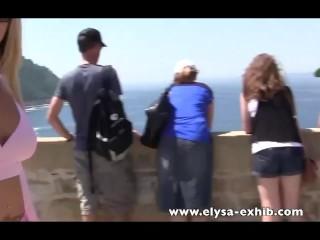Flashing in public video