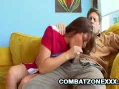 Freckled Faced Cheerleader Talia Palmer Fucked By The Football Coach