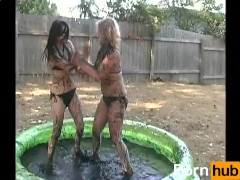 Tracy & Samara Mud Wrestling (Nude) 2 - Scene 1