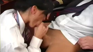 Preview 4 of Airline Stewardess Fucks Pilot