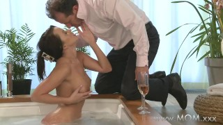 Preview 4 of MOM Couple make love in a hot tub