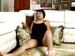 Ceejay enjoys her hairy pussy alone