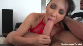 LiveGonzo Katsuni Brunette Asian asking for a Creampie tits dick sexy asian boobs blowjob hot slut small ass beautiful creampie pussy brunette skinny big dick livegonzo french
