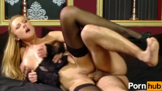 Slut In Lingerie Does Anal  bald pussy ass fuck pussy licking blowjob cumshot fetish big dick hardcore brunette facial nylon heels stockings ass to mouth hungarian corset pornhub.com