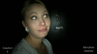 Gloryhole Swallow Kerry  swallow kerry strangers cumshot public blowjob gloryhole